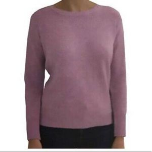 Ellen Tracy Long Sleeve Pullover Mulberry Heather